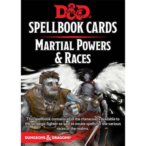 dungeons dragons 5th edition rpg spellbook cards martial powers races version 3. Black Bedroom Furniture Sets. Home Design Ideas